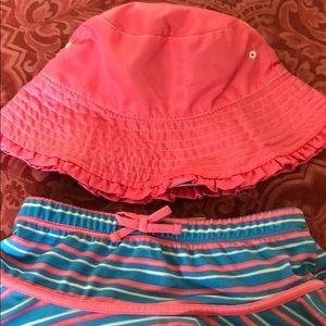 Bathing skirt w/Sun Hat
